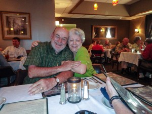 Larry and Mary enjoying our second trip to The 178 Club! All went away full and happy!