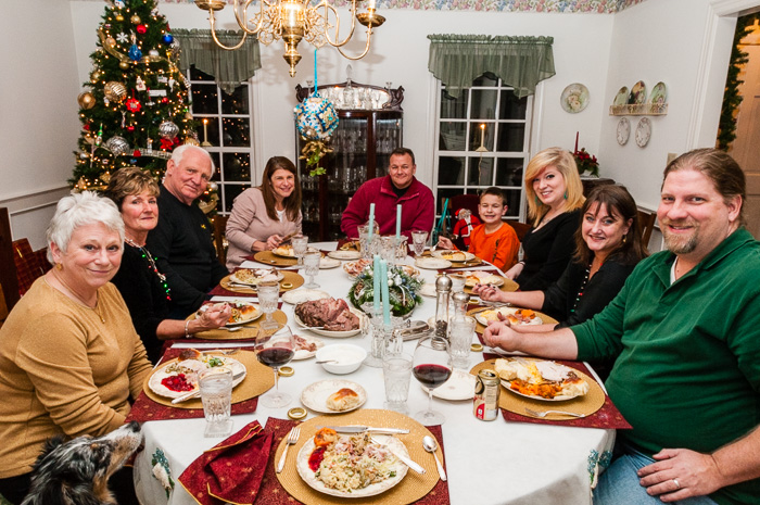 Christmas Eve Dinner with Linda and Haltom Higgs (Click to see more photos)