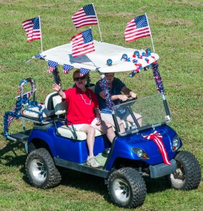 Friends Julie and Norma line up for the 4-wheeler parade!