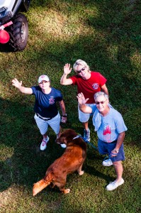 Vickie, Lisa, and Bill join Harbor for the July 4 celebration.