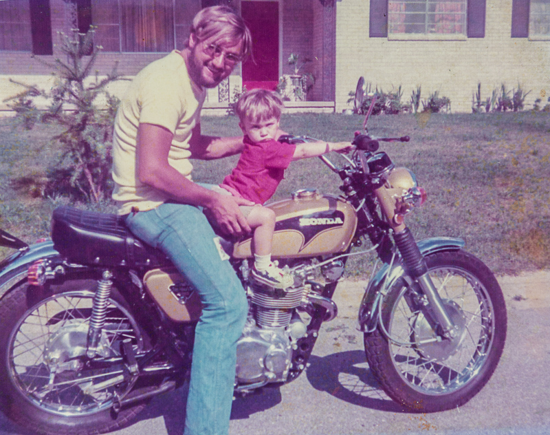 Dan with Rob in '72 or so.